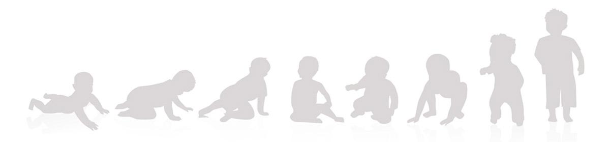 Grafik vom Baby zum Kind