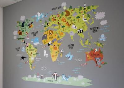 Kinder-Weltkarten-Tapete